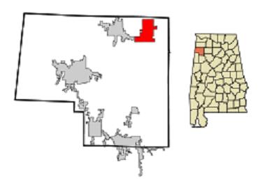 Bear creek, Marion County, Alabama map