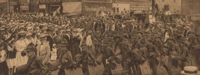 Patron+ Alabama sent many volunteer soldiers in search of Pancho Villa after he attacked a town in New Mexico in 1916 [photographs]