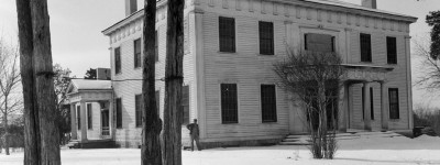 Film with 1930s photographs of plantation house in Colbert County, Alabama