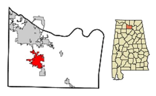 Hartselle, Morgan county map