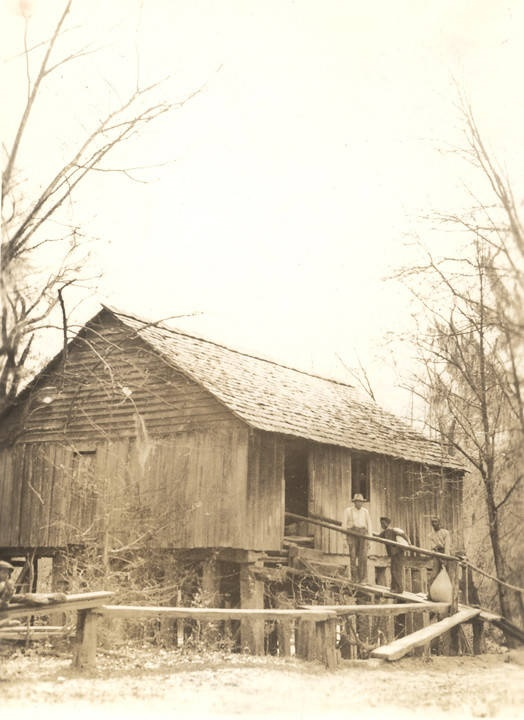 Jacob Rikard's old mill in Monroe County, Alabama 3 ½ miles from Beatrice on Flat Creek ca. 1930s (ADAH) Q1817