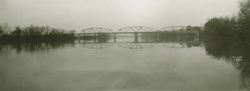 John H. Bankhead Bridge over the Coosa River in Riverside, Alabama ca. 1930s (Alabama Department of Archives and History) by Will Arnold Q49131
