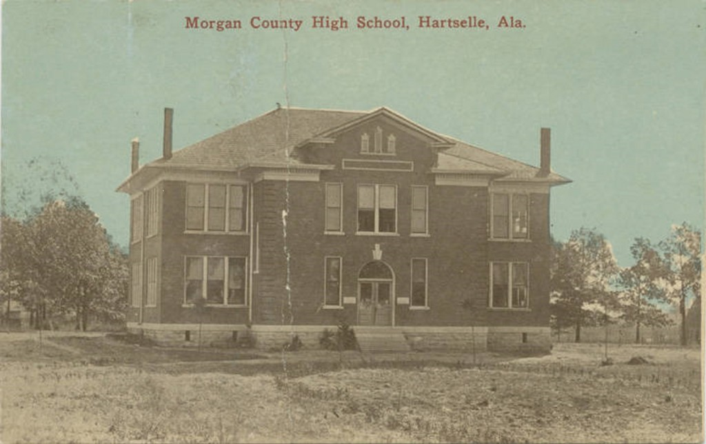 Morgan County High School, Hartselle, Alabama postcard ca. 1890-1900 (ADAH)