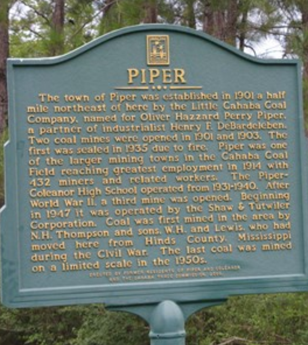 Piper town marker