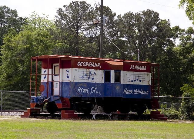 Train car at Boyhood home of Hank Williams Butler County by photographer Carol Highsmith 2010