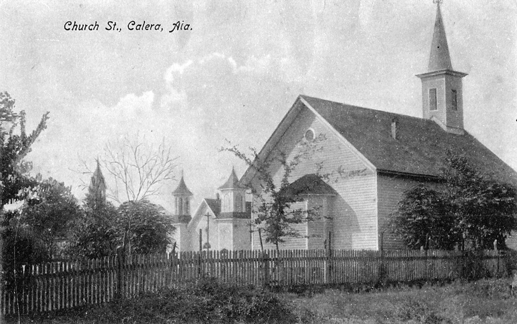 Church Street in Calera, Alabama
