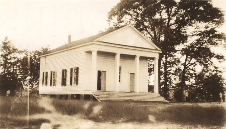 Methodist Church over 100 years old, Old Spring Hill, Barbour County, where the six Comer brothers worshipped (ADAH)
