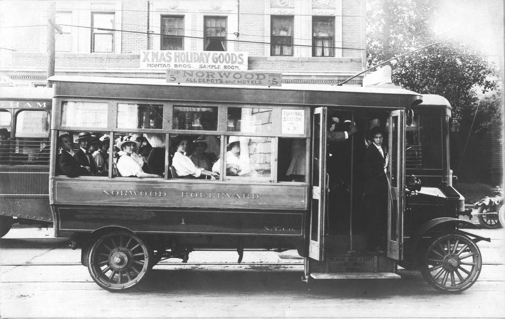 Norwood Boulevard bus of the Norwood Transportation Company, Birmingham, Alabama ca. 1910