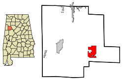 250px-Fayette_County_Alabama_Incorporated_and_Unincorporated_areas_Berry_Highlighted