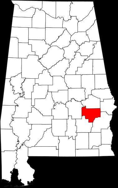 Bullock county map