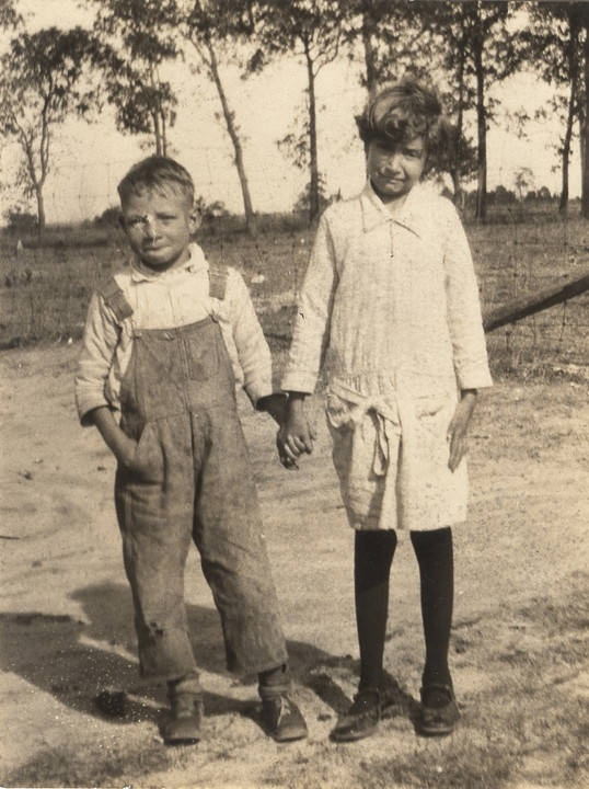 Cajun boy and girl in Mobile County, Alabama Q5419