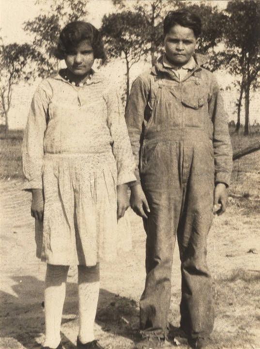 Cajun girl and boy in Mobile County, Alabama Q5422