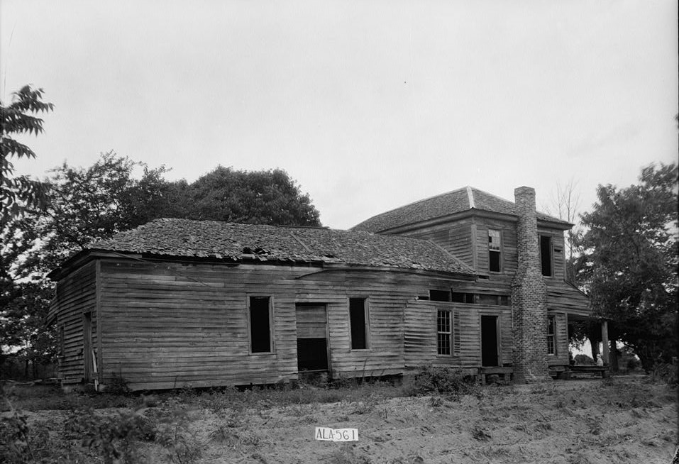 Howe-Roughton House, County Road 14, High Ridge, Bullock County, AL 1935 2(by photographer W. N. Manning -Library of Congress)
