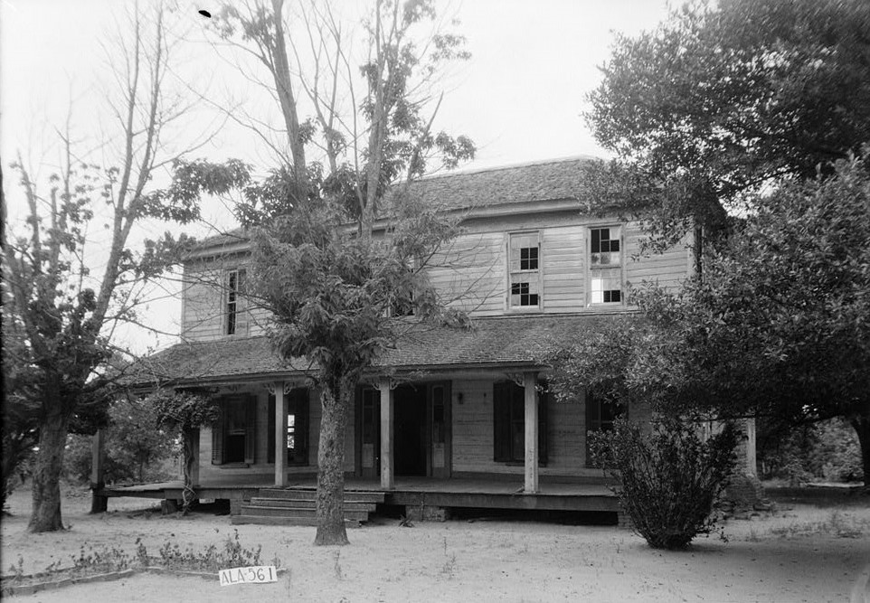 Howe-Roughton House, County Road 14, High Ridge, Bullock County, AL 1935 (by photographer W. N. Manning -Library of Congress)