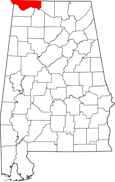 Lauderdale county map