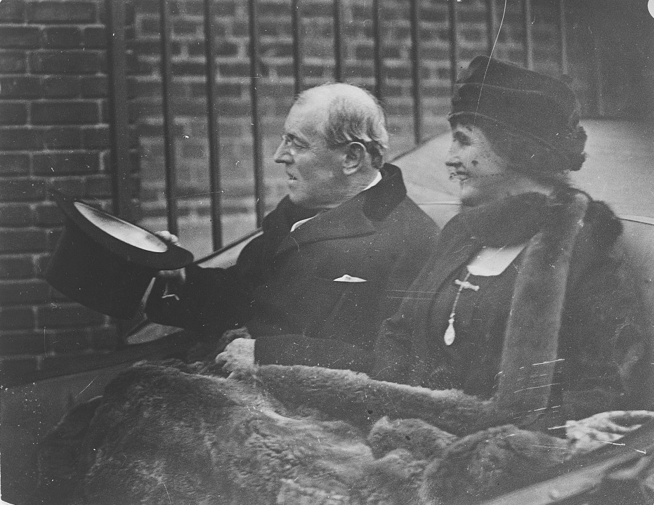 President Woodrow Wilson and Edith Wilson Armistice Day, Nov. 11, 1922