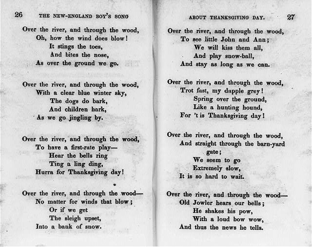 Thanksgiving 1845 New England boy's song (Library of Congress)