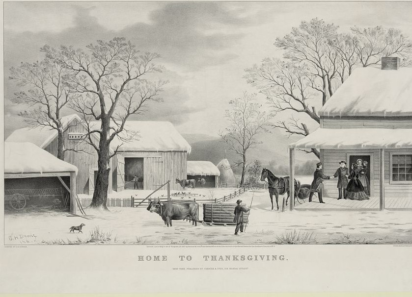Thanksgiving Curier & Ives print 1867 (Library of Congress)
