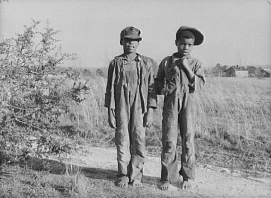 Two boys at Gee's Bend in 1937