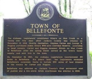 Patron – Bellefonte, Jackson County, Alabama – land sales took place in 1839