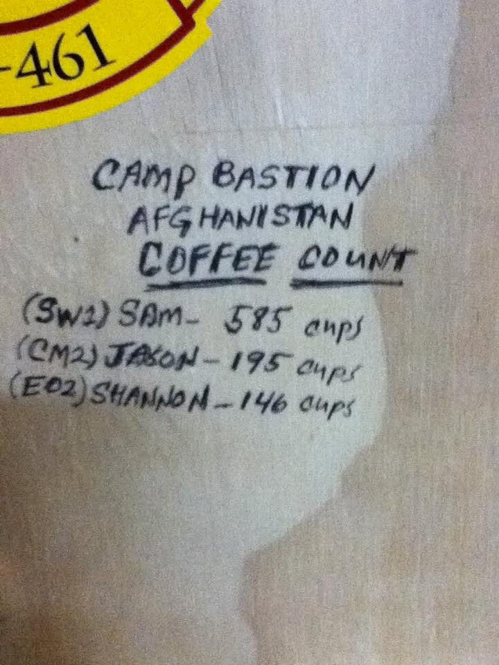 Camp Bastion Coffee count