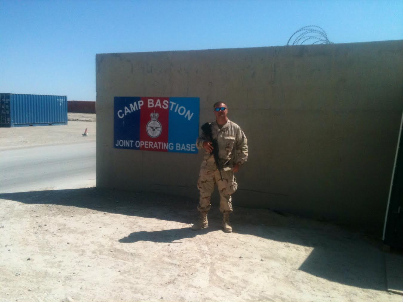 Seabee...Equipment Operator 2 class Hollon at Camp Bastion