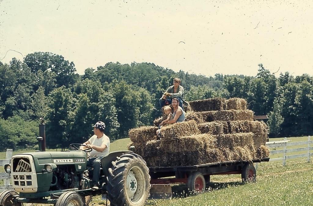 Bailing hay (photo from huskfoods.com)