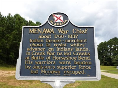 Menawa, War Chief sign