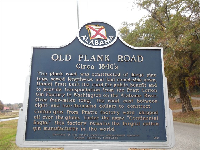 Old plank road Prattville (waymarking.com)