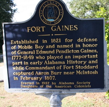 fort gaines historic sign