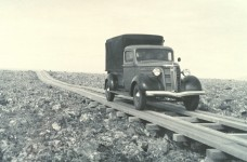 Imagine traveling on plank roads like this between cities in Alabama