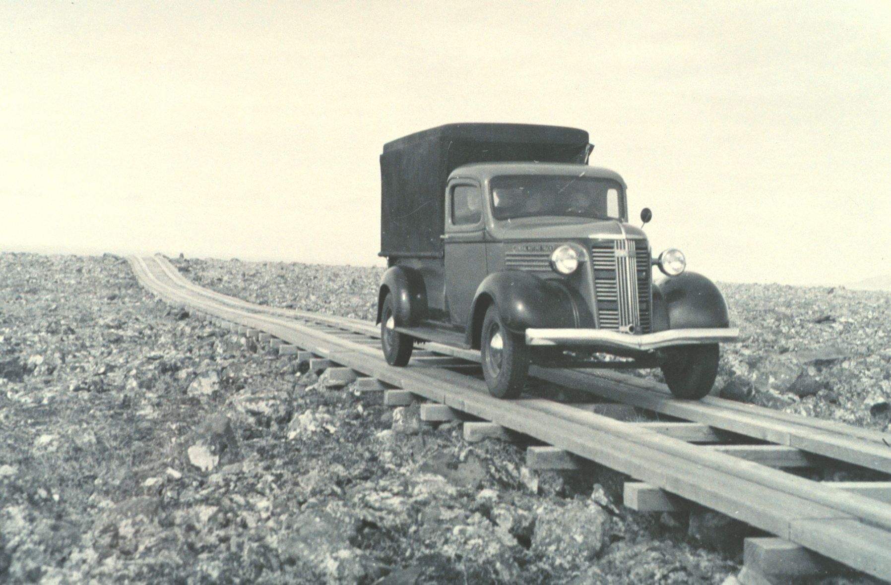 Imagine traveling on plank roads like this between cities