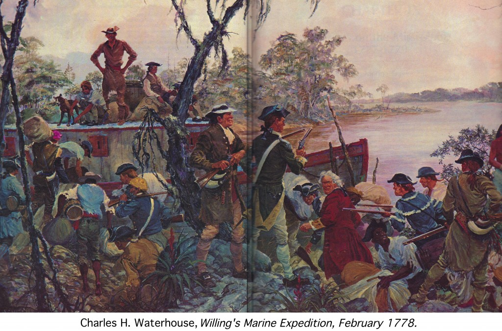 Willing's Marine Expedition, Feb. 1778 by Charles H. Waterhouse