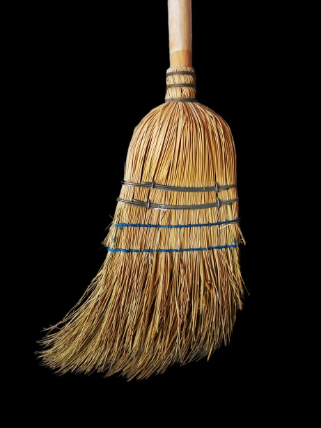 old-straw-broom