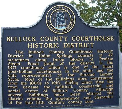 Bullock county historic marker
