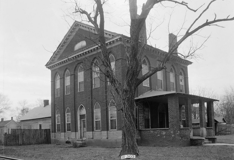 Old Masonic Hall, Monroe & East Hobbs Streets, Athens, Limestone County, AL (Library of Congress)