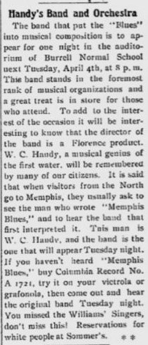 W. C. Handy news article