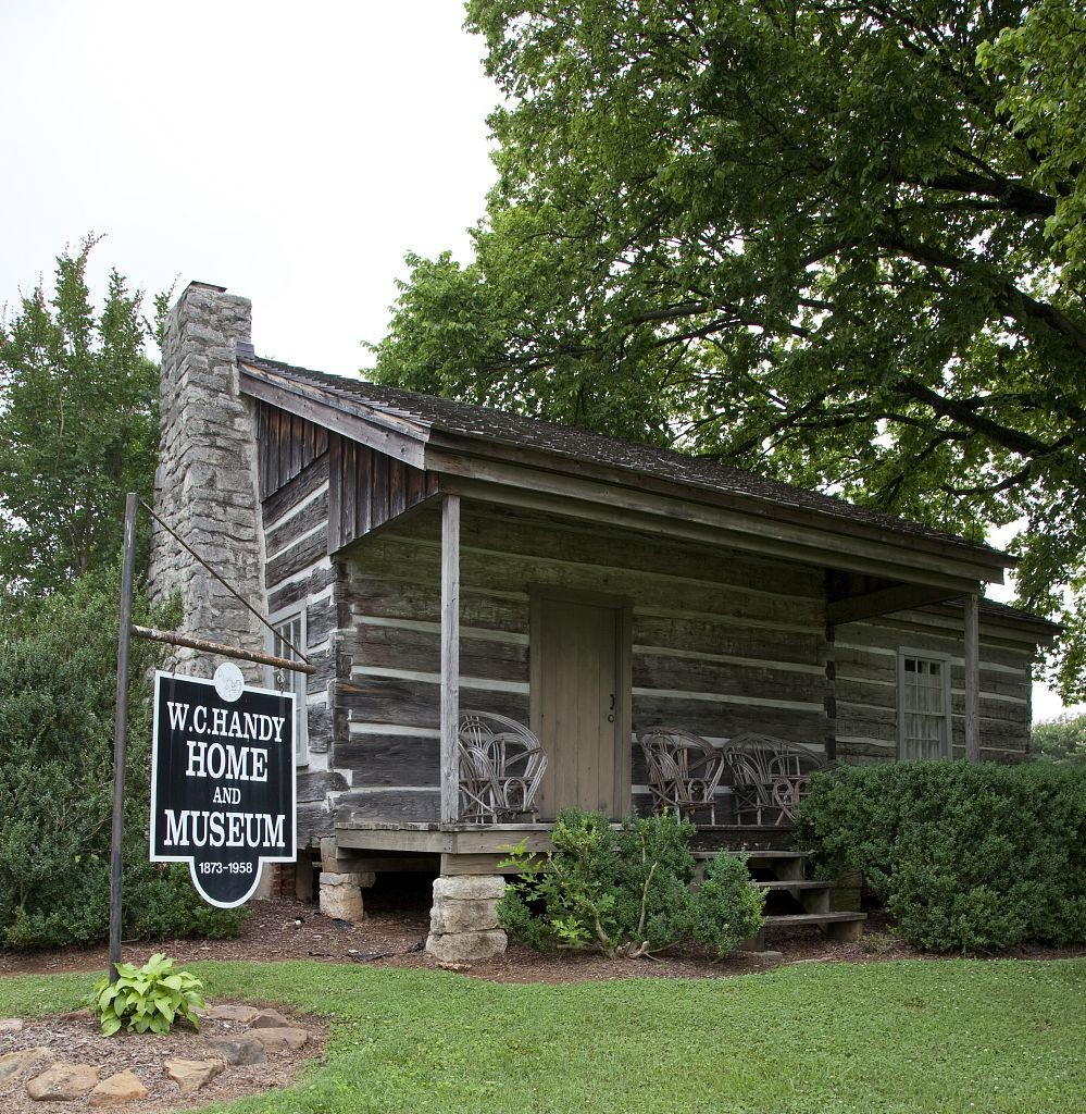 W.C. Handy was born in this small log cabin in Florence, Alabama on November 16, 1873