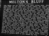 John Melton robbed boats at Melton's Bluff & became rich