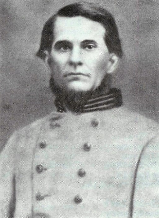 Captain William Jefferson Bickerstaff, Co.I, 34th Alabama Infantry, C.S.A. Captain Bickerstaff was mortally wounded at Murfreesboro.