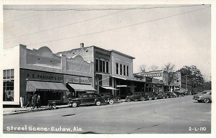Eutaw, Greene County street scene ca. 1939 (Alabama Department Archives and History)