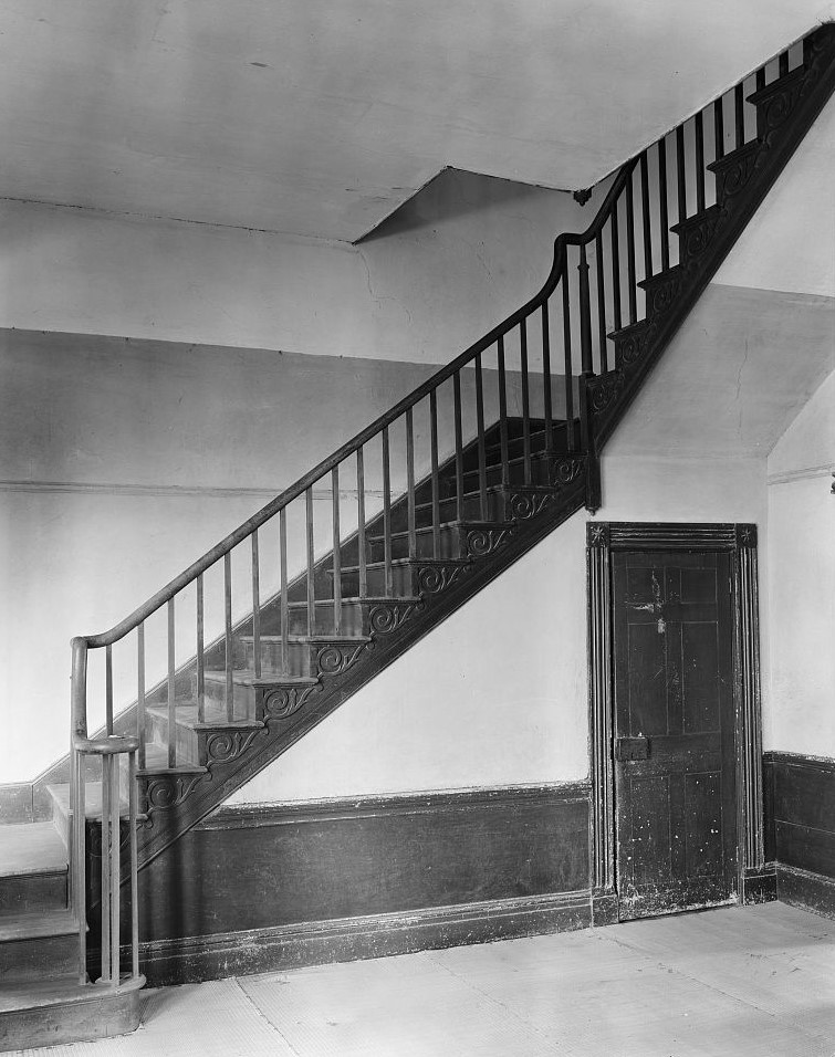 James Jackson house staircase  1939 Johnston, Frances Benjamin, 1864-1952, photographer