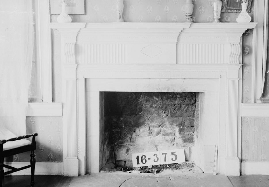 Living room fireplace W. N. Manning, Photographer, FEB. 2, 1934. Forks of Cypress, Florence, Lauderdale County, AL