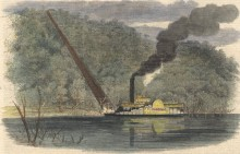 Citizens of Alabama were excited and afraid of the first steamboats