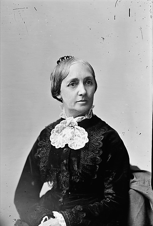Mother of William Henry Jackson in lace jabot, seated ca. 1900 (Detroit Publishing Company)