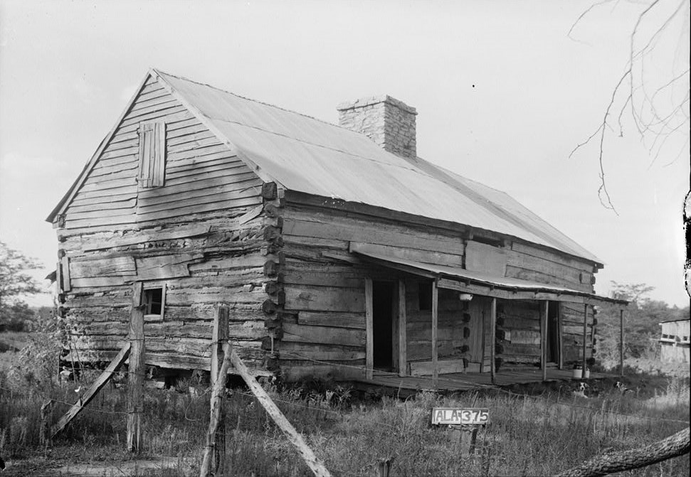 Old cabin on plantation W. N. Manning, Photographer, FEB. 2, 1934. Forks of Cypress, Florence, Lauderdale County, AL