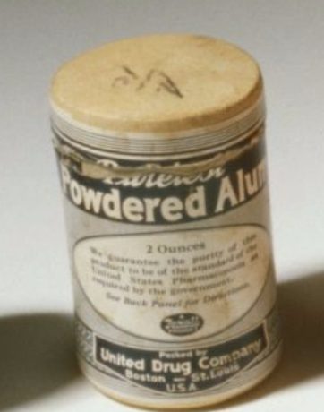 Powdered alum (Library of Congress)