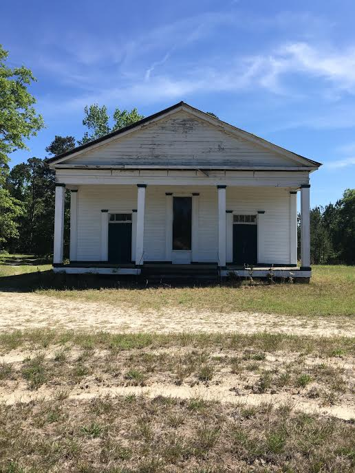 Uchee Chapel Methodist exhibits rural Greek Revival architecture in its purest form (copyright Amanda Gallatin)