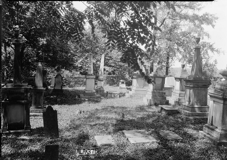View of cemetery looking west W. N. Manning, Photographer, FEB. 2, 1934. Forks of Cypress, Florence, Lauderdale County, AL