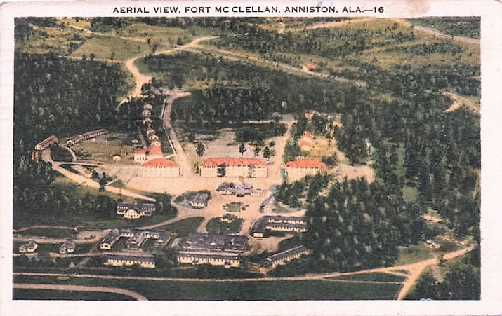 Aerial View, Fort McClellan, Anniston, Ala postmarked Nov. 1913 (Alabama Department of Archives and History)